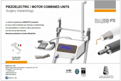 New piezoelectric / motor combined units for surgery and implantology